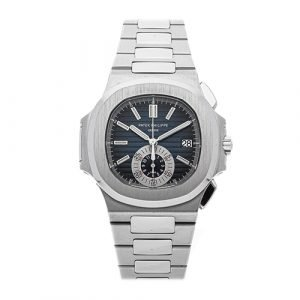 Patek Philippe 5980/1a-001 Nautilus Blue Dial Stainless Steel Mens Watch