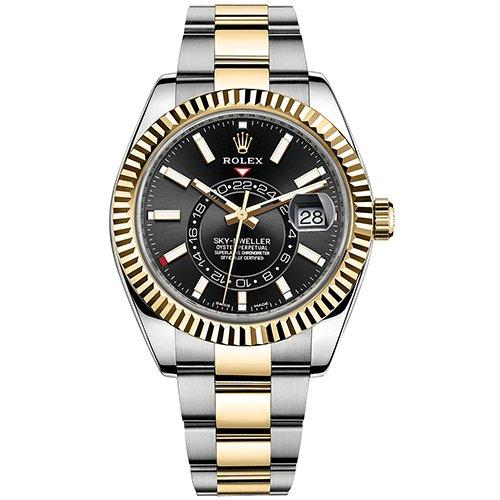 Rolex Sky-Dweller 326933 42mm Black Dial Watch