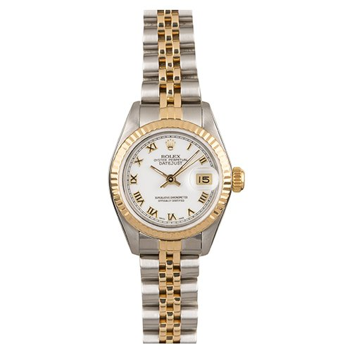 Rolex Datejust 26 mm Two-Tone 69173 White Dial