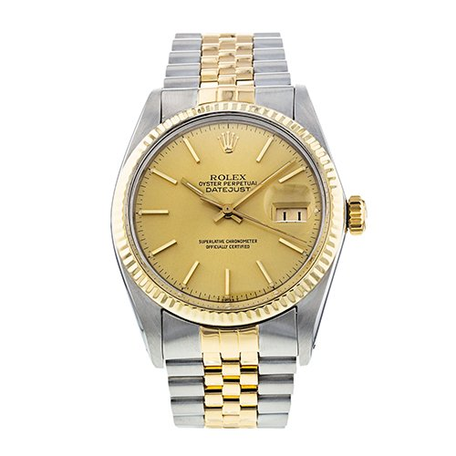 Rolex Datejust Stainless Steel And 18K Yellow Gold 36mm Watch 16013