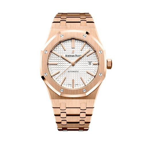 Audemars Piguet Royal Oak Self Winding Diamond Dial 41mm Pink Gold With Diamonds Watch 15400OR.OO.1220OR.02