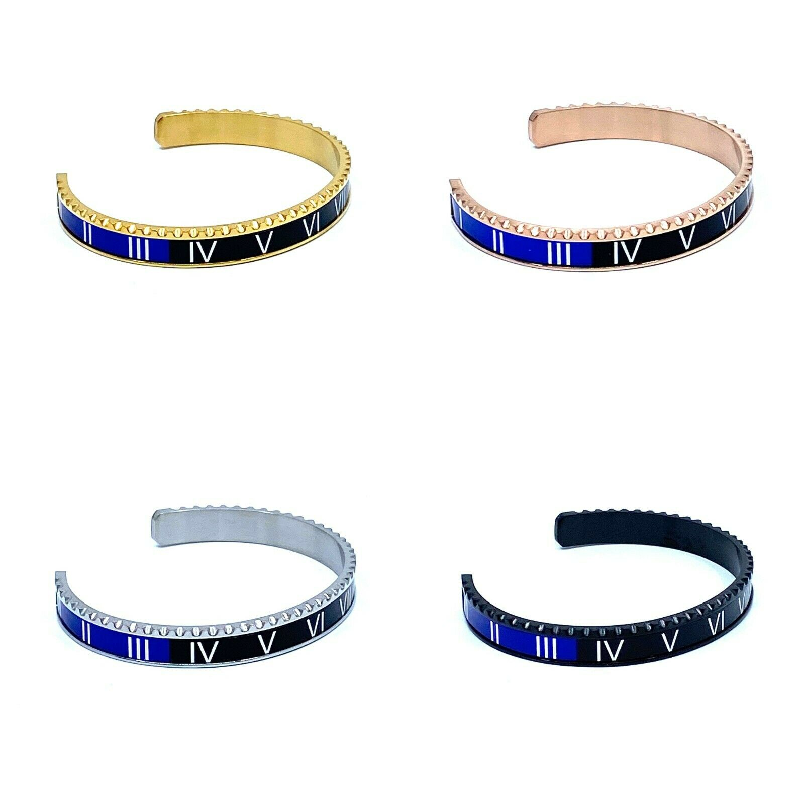 Black & Blue Speedometer Style Bracelet 1pcs Stainless Steel Watch Bangle 4 colors available