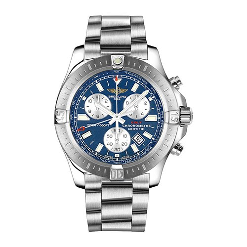 Breitling Colt Chronograph Blue Dial Stainless Steel Watch Item No. A7338811-C905SS