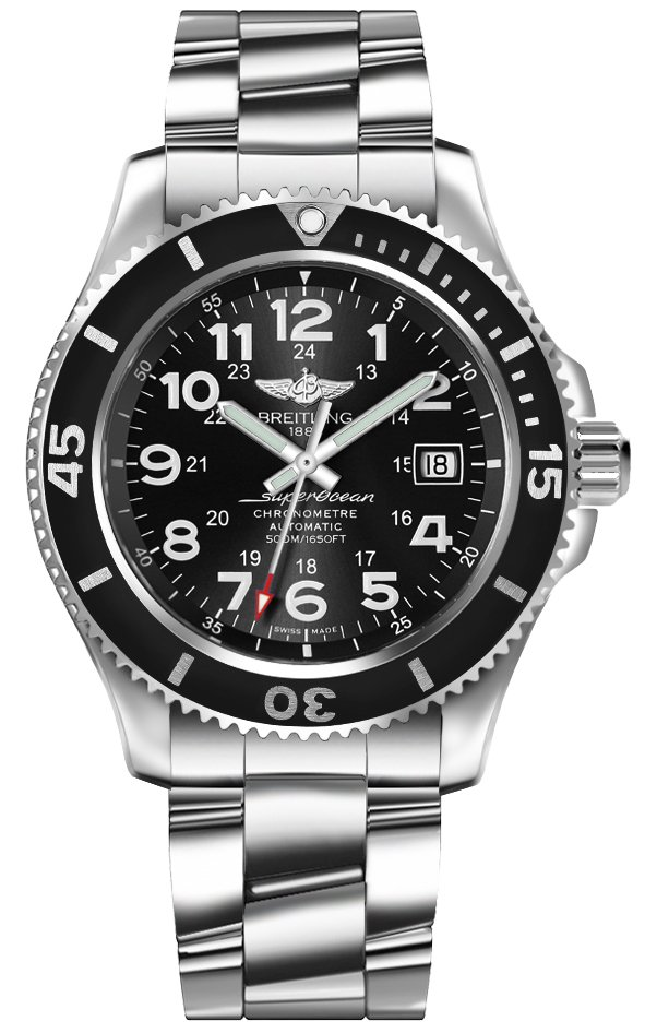 Breitling Superocean II 42 Black Dial Men's Watch A17365C9/BD67-161A