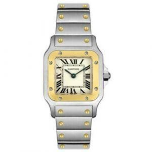 Cartier W20012C4 2 Tone Stainless Steel and yellow gold, Roman numerals Watch