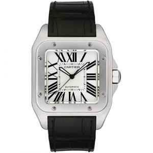Cartier Santos 100 Stainless Steel Silver 38mm Automatic Watch Mint W20073X8