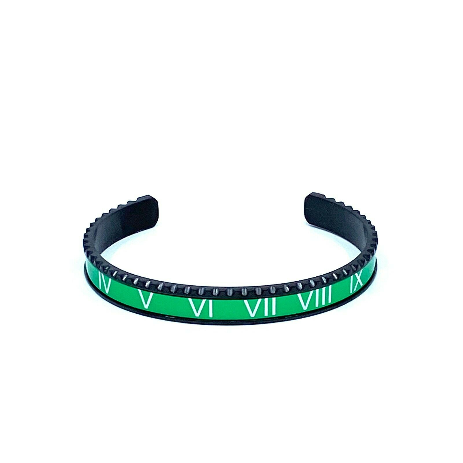 Green Speedometer Style Bracelet 1pcs Stainless Steel Watch Bangle