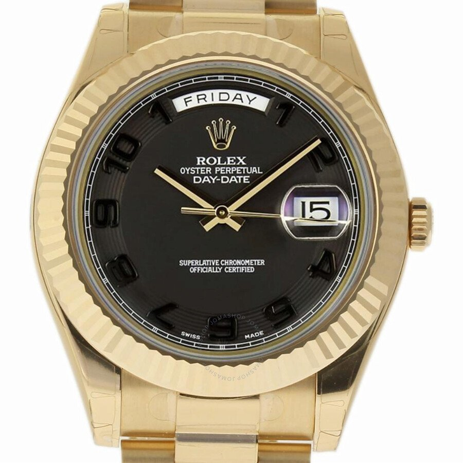Rolex Day-Date II BlackDial 18K Yellow Gold President 218238
