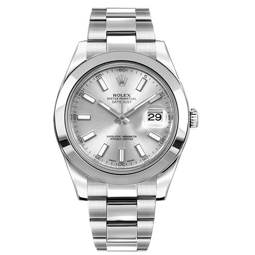 Rolex Datejust II 41mm Stainless Steel 116300 Silver Dial Box & Papers