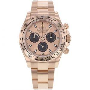 Rolex Daytona 116505 Pink Dial Engraved Bezel Rose Gold Watch