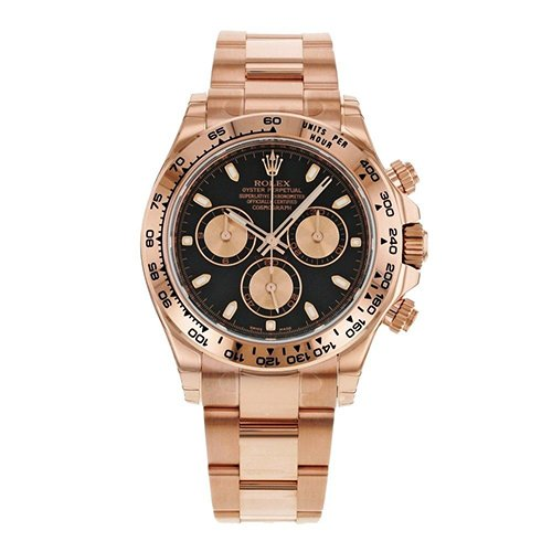 Rolex Everose Gold 116505 Cosmograph Daytona 40mm Black Index Dial Watch