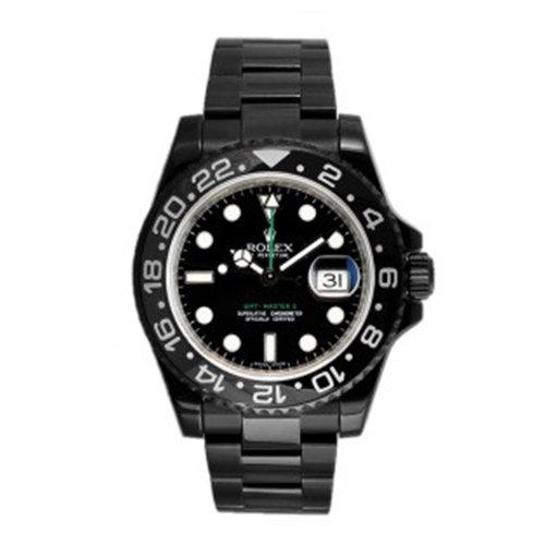 Rolex GMT-Master II Stainless Black PVD 116710 40mm Date Watch