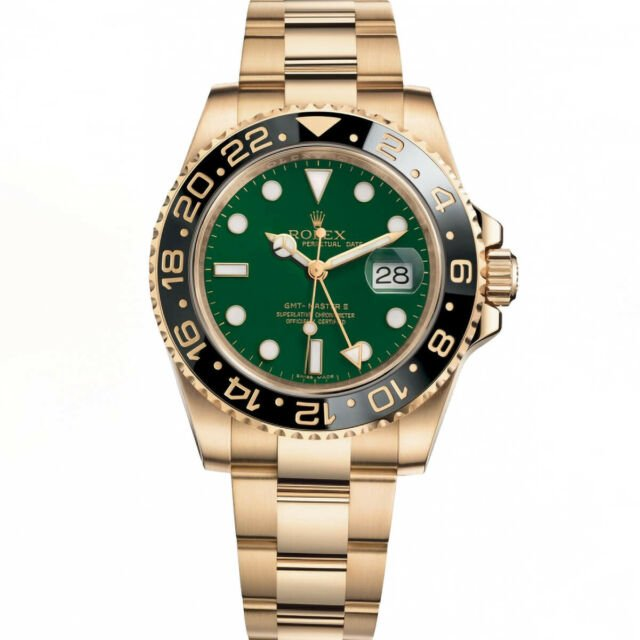 Rolex GMT-MASTER II 116718LN Yellow Gold Men's Watch - Big Watch Buyers NYC
