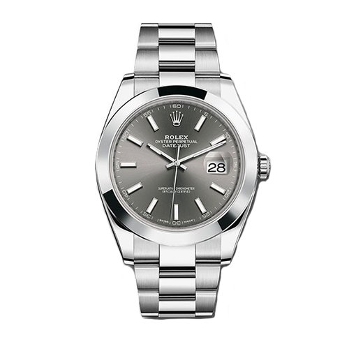 Rolex 126300 dkrio Steel - Smooth Bezel - Rhodium Dial - Oyster Perpetual Datejust 41 Watch