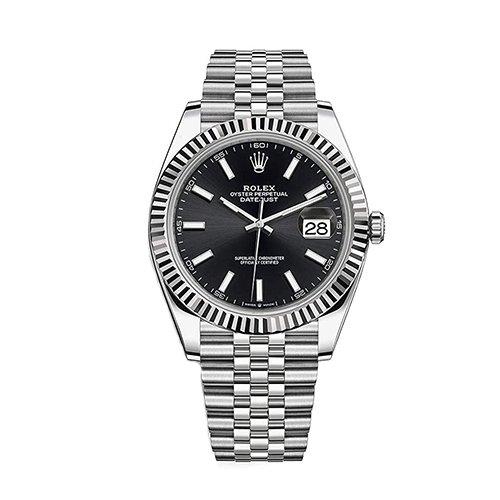 Rolex 126334bl Datejust 41 Steel and White Gold Fluted Bezel Jubilee Bracelet