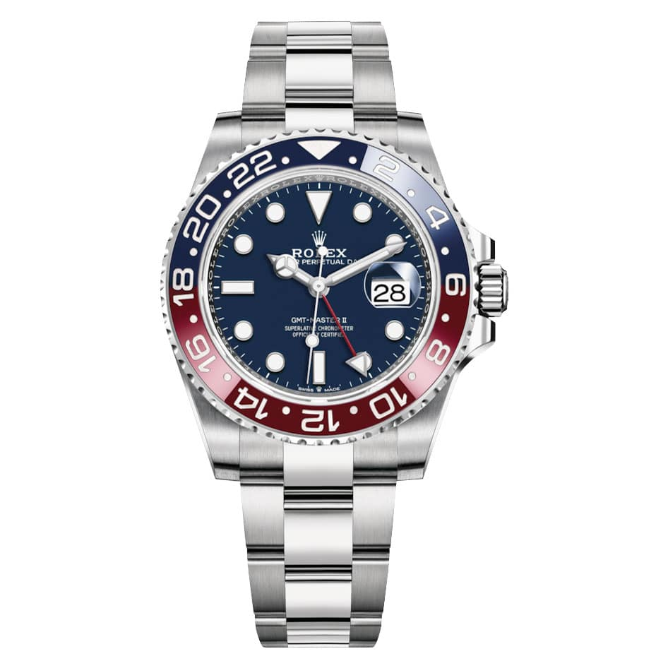 Rolex GMT 126719BLRO Master II White gold Mens Watch