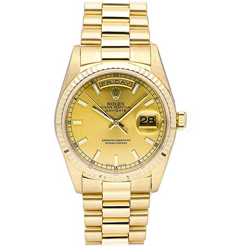 Rolex Day-Date 18238 T-serial Yellow Gold Champagne dial