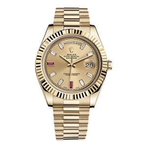 Rolex Day-Date II 218238 41mm 18K Yellow Gold Champagne Dial Watch