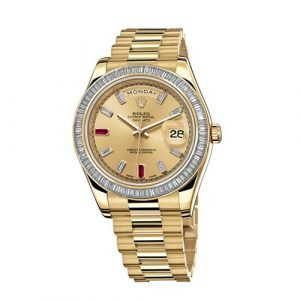 Rolex Day-Date II BR Yellow Gold President With Diamonds Watch 218398
