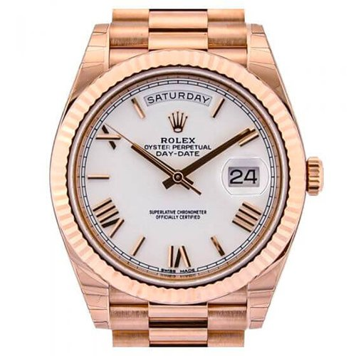 Rolex Day-Date 40 Everose Gold White Dial President Watch 228235