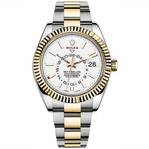 Rolex Sky-Dweller 42mm White Dial Watch 326933