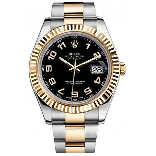 Rolex DATEJUST II 116333 Black Roman Dial Watch