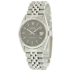 Vintage Rolex Datejust 36mm Stainless Steel Diamond Bezel and Dial Watch