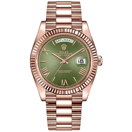 Rolex Day-Date Green Dial 228235 Watch 18k Rose Gold