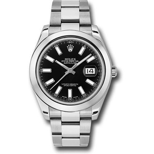 Rolex Oyster Perpetual Datejust II 41mm Stainless Steel - Smooth Bezel - 116300 bkio Watch