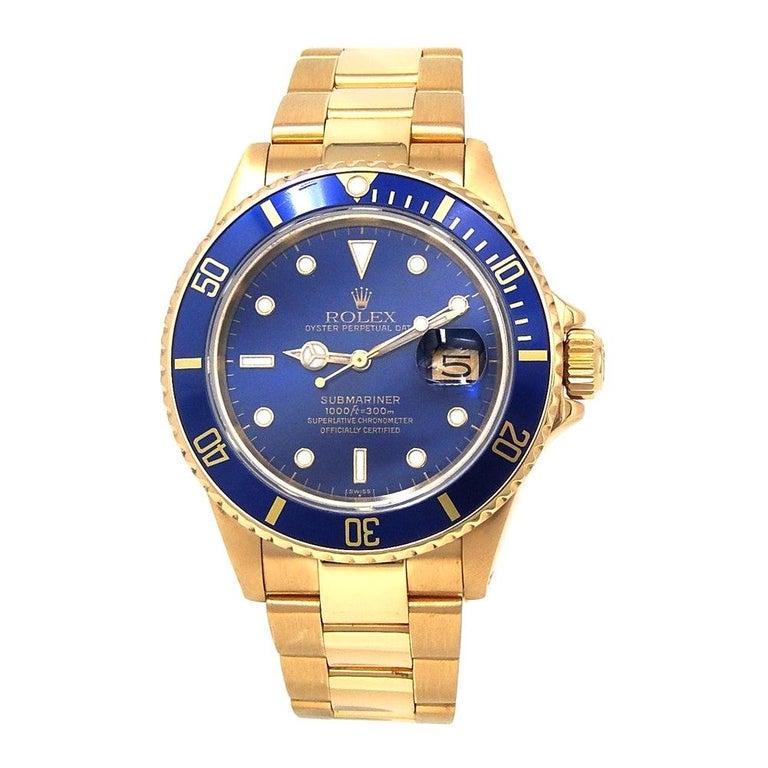 Rolex SUBMARINER 16808 Date Vintage Nipple Dial Gold 18k Men's Watch