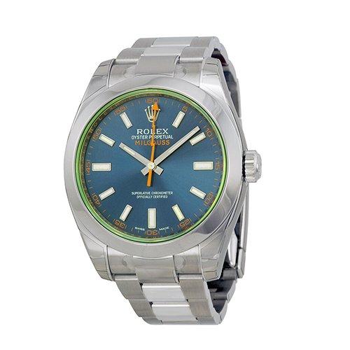 Rolex Oyster Perpetual Milgauss Watches 116400GV blo - Big Watch Buyers
