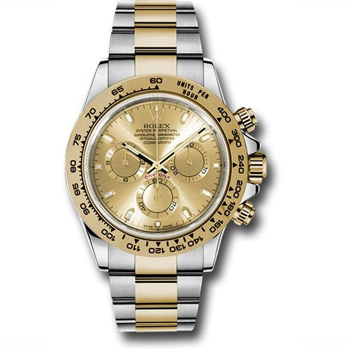 Rolex Cosmograph Daytona Champagne Dial Stainless Steel And Gold 116503
