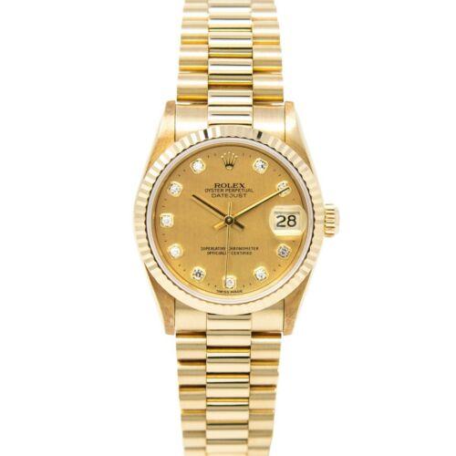 Rolex DATEJUST President 68278 Yellow Gold 31mm