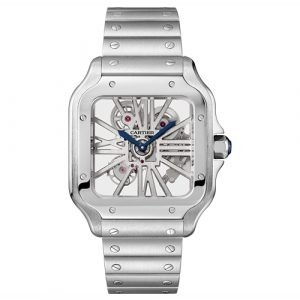 Cartier Skeleton Watch WHSA0007 Santos de Cartier