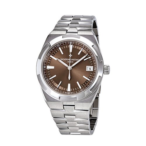 Vacheron Constantin 4500V-110A-B146 Overseas Date 41mm Automatic in Steel - On Steel Bracelet with Brown Dial