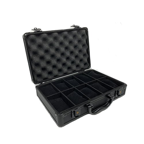 Watch Travel Case Aluminum Metal Briefcase for 10 Watches