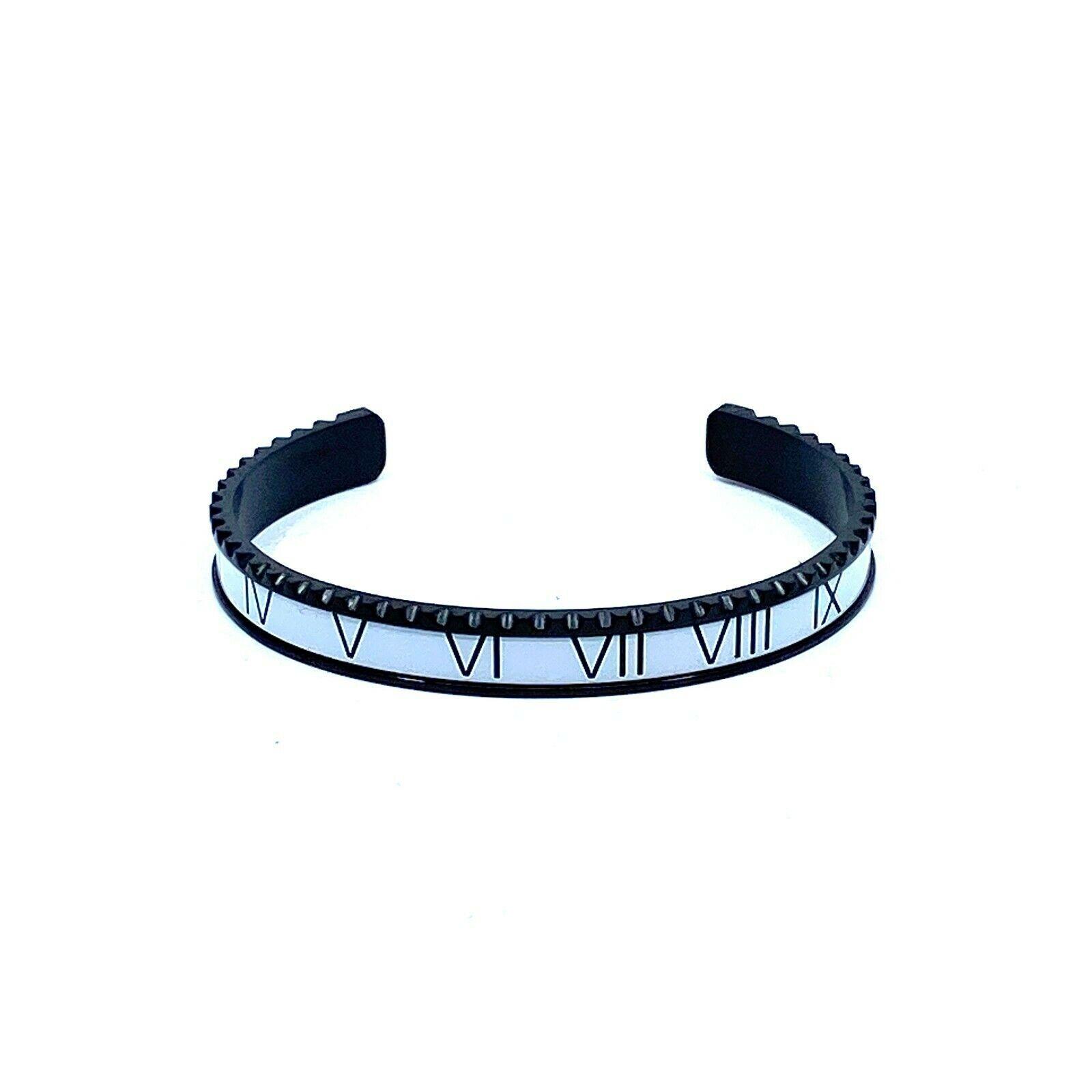 White & Black Speedometer Style Bracelet 1pcs Stainless Steel Watch Bangle