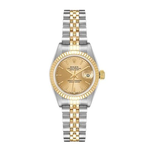Rolex Datejust 69173 Champagne Dial Roman 18k Yellow Gold And Stainless Steel Watch