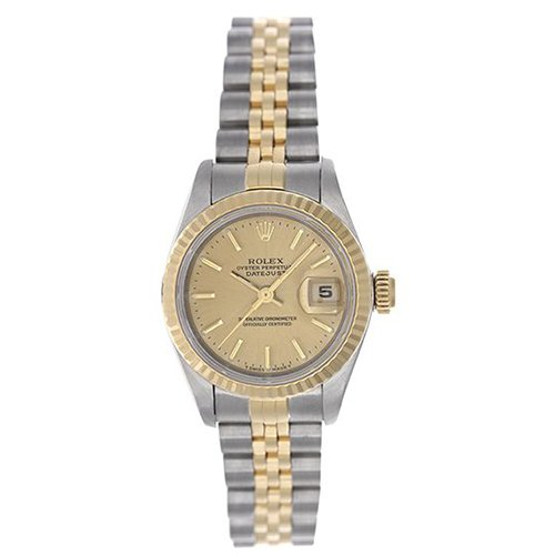 Rolex DATEJUST 79173 Champagne Dial 18k Yellow Gold And Stainless Steel Watch