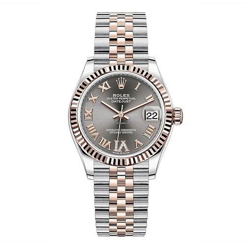 Rolex Datejust Dark Rhodium Roman With Diamonds 31mm Watch 278271