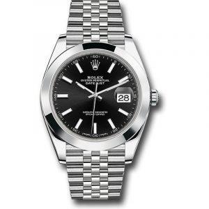 Rolex DATEJUST 41MM Black Stick Dial, 126300