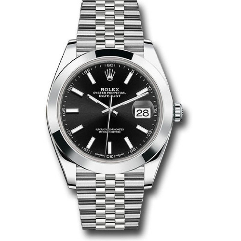 Rolex DATEJUST 41MM Black Stick Dial, 126300