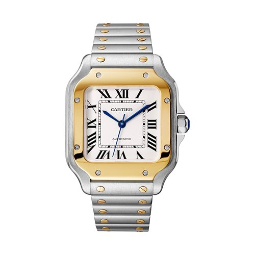 Cartier Santos W2SA0007 Stainless Steel 18k Yellow Gold Automatic Watch