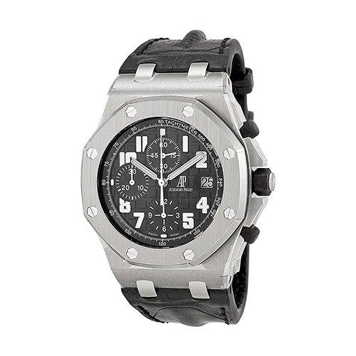 Audemars Piguet Royal Oak Offshore Black Dial Diamond 42mm Watch 26170ST