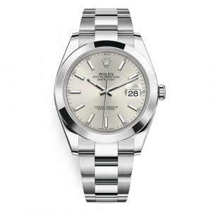 Rolex Datejust 126300 Silver Index Oyster 41mm Stainless Steel Watch