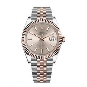 Rolex 126331 Datejust 41mm 18k Two Tone Everose Rolesor Sundust Dial Jubilee Watch