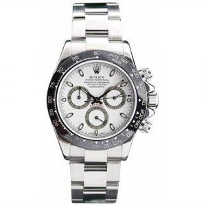 Rolex Daytona 40mm White Dial & Black Bezel Watch 116520 Aftermarket