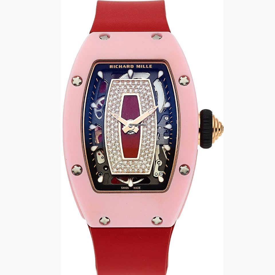 Richard Mille RM 07-01 Self-Winding Pink Ceramic And 18k Rose Gold