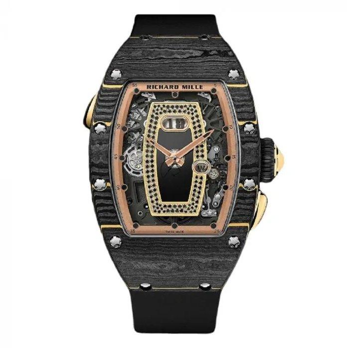 Richard Mille RM 037 Rose Gold Gem Set Black Carbon Watch