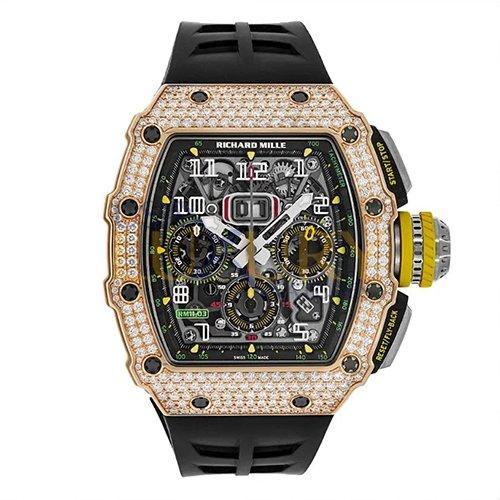 Richard Mille RM 11-03 Rose Gold Gem Set Titanium Chronograph Watch